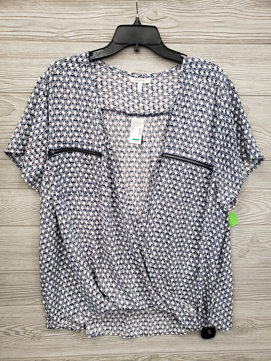 SHORT SLEEVE TOP MAURICES SIZE 3X -
