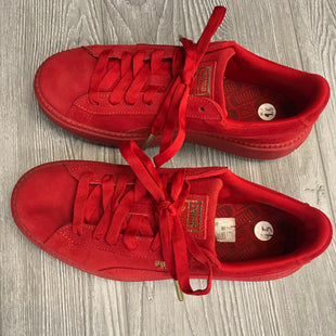 ATHLETIC SHOES BY PUMA SIZE 9.5 - RED.