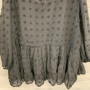 LONG SLEEVE SHIRT SIZE 3X - BLACK .