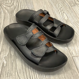 SANDALS BY ANA-TECH SIZE  6.5 - BLACK.