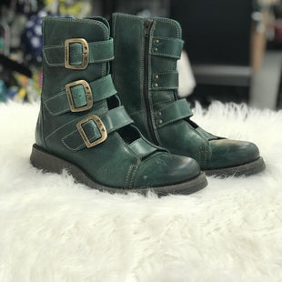 ANKLE BOOT SIZE 8.5 BY FLY LONDON - GREEN.
