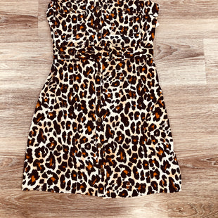 SLEEVELESS DRESS SIZE S BY OPHELIA ROSE - ANIMAL PRINT .