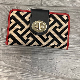 WALLET SIZE S BY SPARTINA - BLACK .