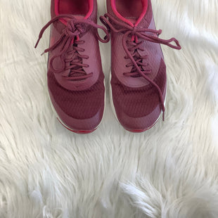 NIKE SHOES SIZE 6.5 - BURGUNDY .