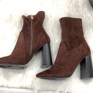 Ankle boots size 6.5 - BROWN .