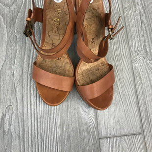 HEELS SIZE 8.5 BY RALPH LAUREN - BROWN.