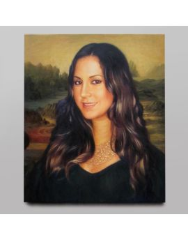 Personal Painting Oil Canvas Lady