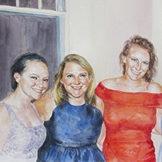 family and friends oil paintings
