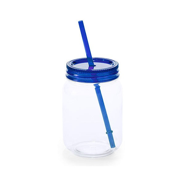 Jar with Lid and Straw (600 ml) 144820