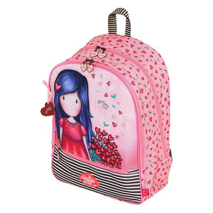 School Bag Gorjuss Love Grows Pink