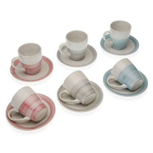 Piece Coffee Cup Set Rachel Stoneware (6 Pieces)