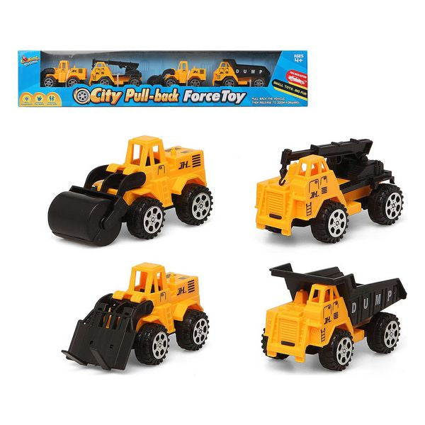 Construction Vehicles 119480 Yellow (4 Pcs)