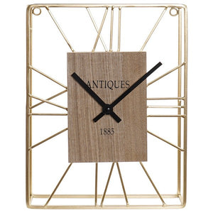 Table clock Dekodonia Antiques 1885 Wood Metal (22 x 5 x 30 cm)