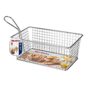 Basket for Presenting Aperitifs Quttin Rectangular Stainless steel (20 X 12 x 8 cm)