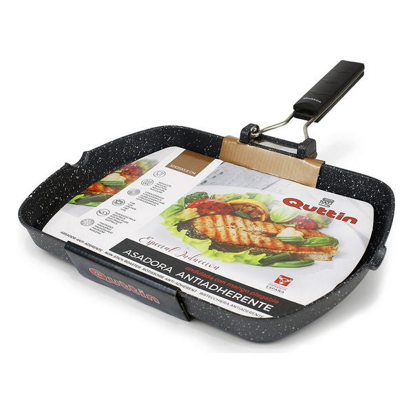 Grill pan with stripes Quttin Toughened aluminium Non-stick