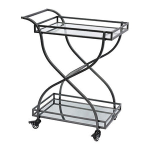 Serving trolley Iron Glass (70 x 43 x 86 cm)