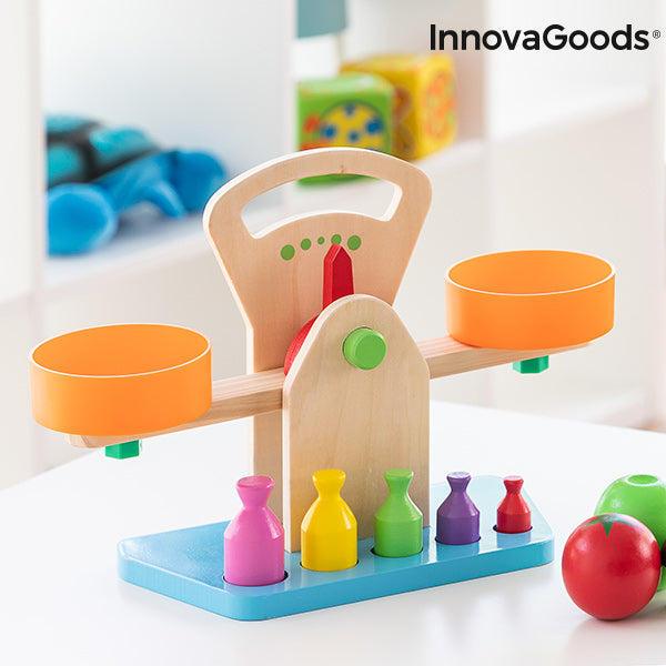 Wooden Scales with Accessories Treggy InnovaGoods 9 Pieces