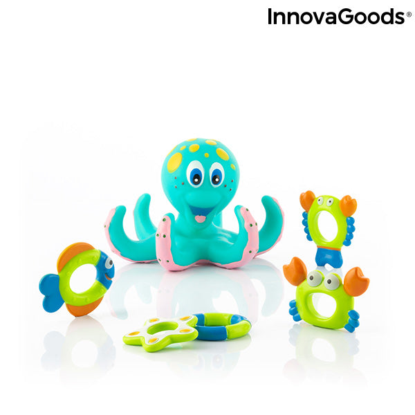 Floating Octopus with Rings Ringtopus InnovaGoods 6 Pieces
