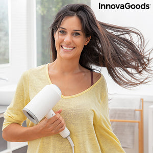 Folding Ionic Hair Dryer with Accessories Ventio InnovaGoods 1600W White/grey