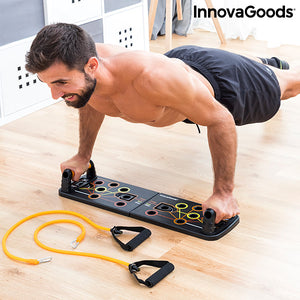 Workout System with Resistance Bands and Exercise Guide Pulsher InnovaGoods