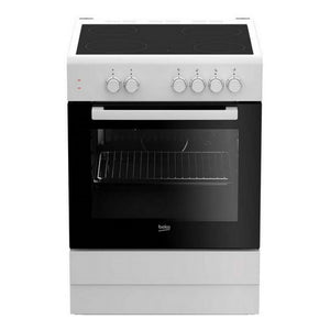 Combined Oven and Glass-Ceramic Hob BEKO FSS67000GW 71 L 60 cm White (4 Cooking areas)