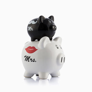 Mr & Mrs Piglets Money Box