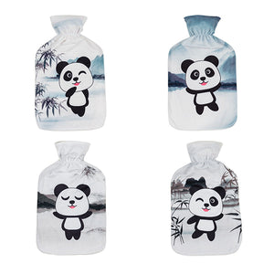 Hot Water Bottle with Panda Cover 1.7 L