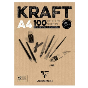 Drawing paper Clairefontaine 96545C Kraft A4 (100 pcs) (Refurbished A+)
