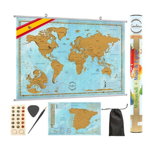 Scratch-Off World Map + España (Refurbished A)