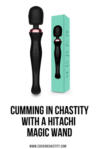 Cumming In Chastity With A Hitachi Magic Wand