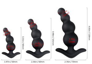 3 Piece Beginner's Anal Beads - Silicone Anal Training Set