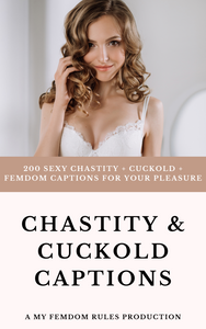Chastity and Cuckold Captions Book (PDF) - 200 Different Captions!