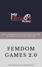 Load image into Gallery viewer, Femdom Games Book 2.0 - 200 New & Naughty Games For Your FLR