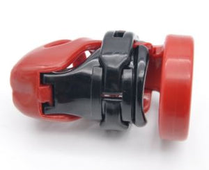 Red Small Plastic Chastity Cage