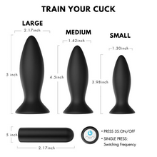 Load image into Gallery viewer, Remote Control Anal Plugs