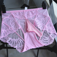 Load image into Gallery viewer, pink sissy cuckold panties with a pouch