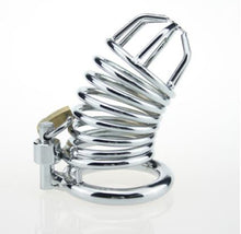 Load image into Gallery viewer, stainless steel chastity cage for cuckolds
