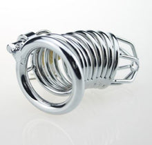 Load image into Gallery viewer, small stainless steel chastity cage