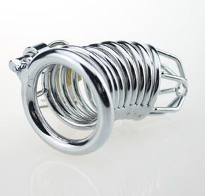 small stainless steel chastity cage