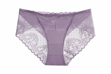 Purple Mesh Sissy Panties