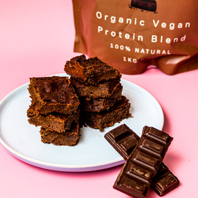 Plant Based Chocolate Protein Brownie Recipe