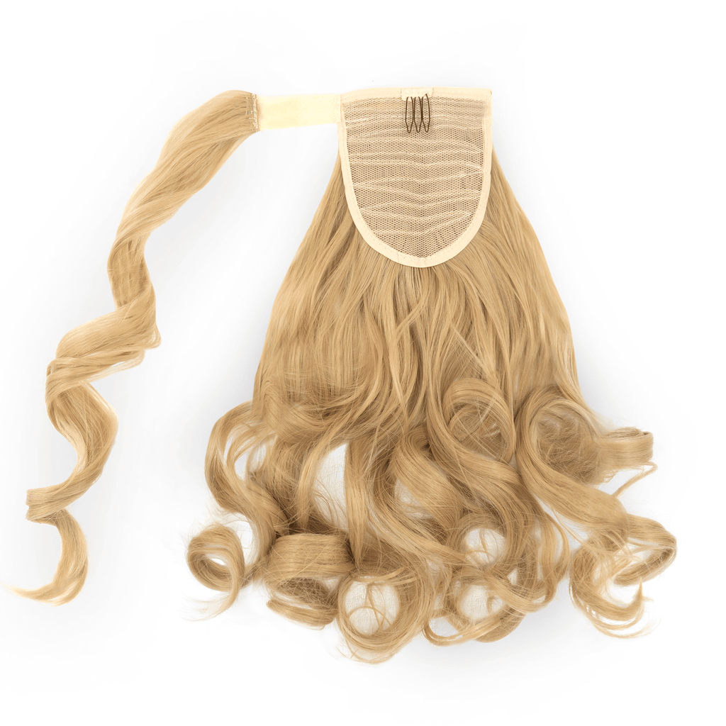Clip-In Wrap Ponytail Curly - Blonde Shade 18 22""