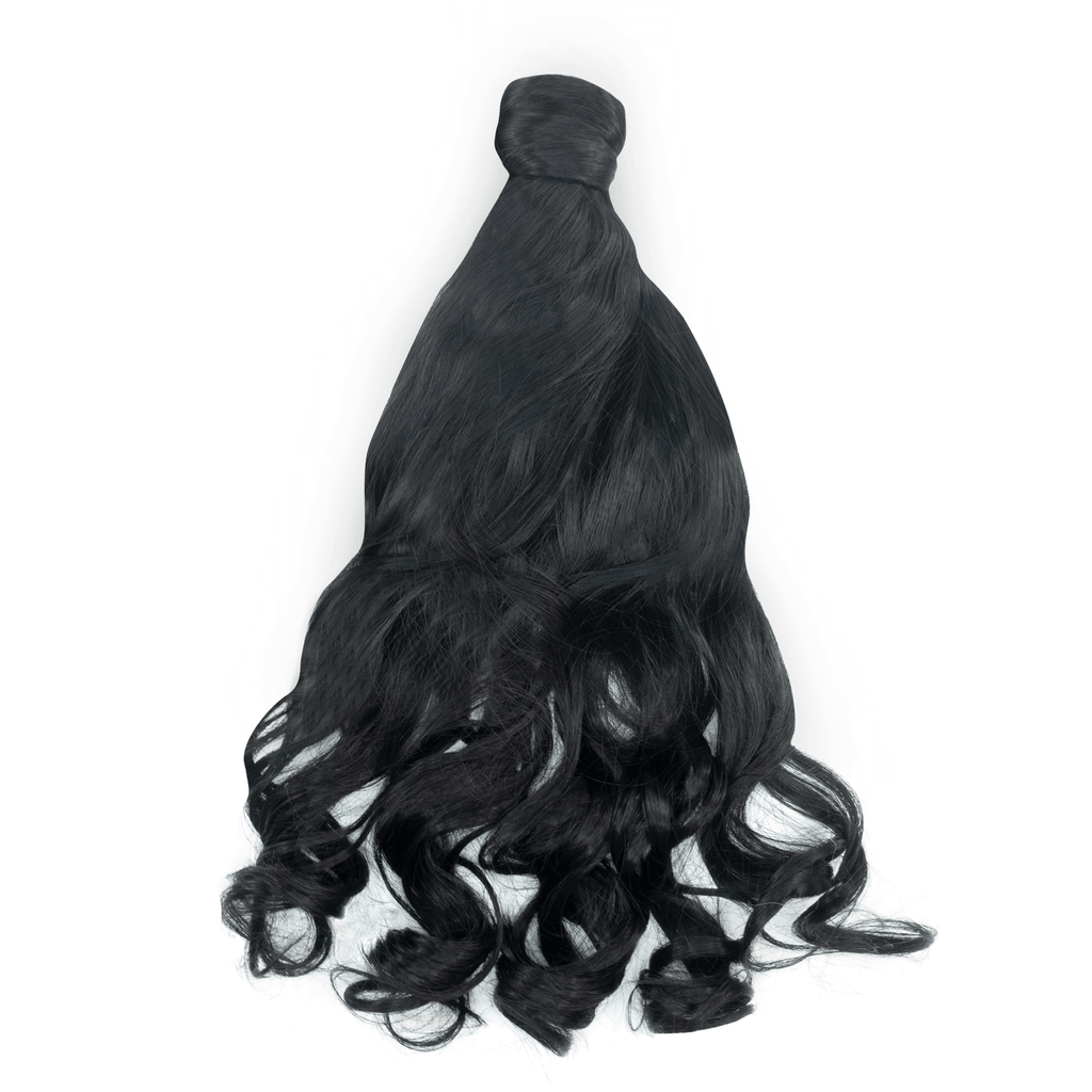 Clip-In Wrap Ponytail Curly - Black Shade 1 22""