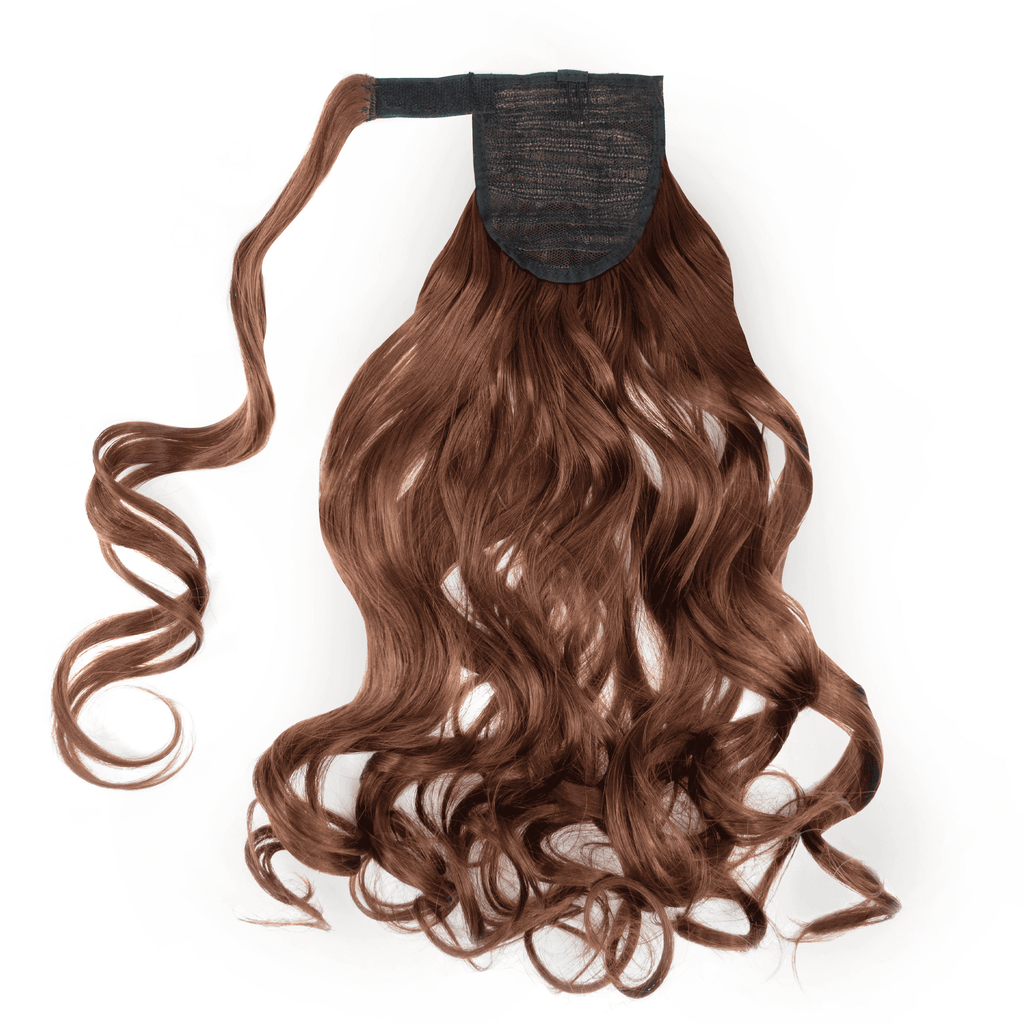 Clip-In Wrap Ponytail Curly - Brown Shade 33 22""