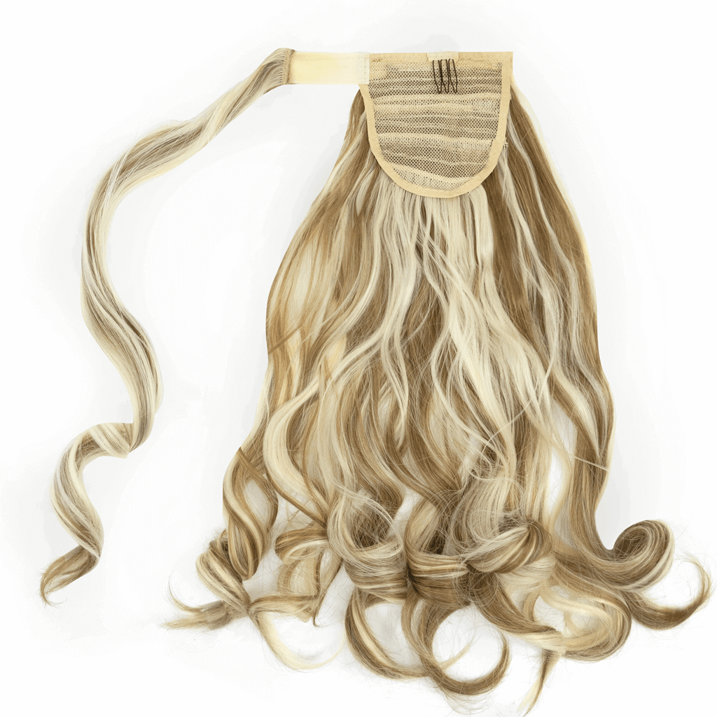 Clip-In Wrap Ponytail Curly - Blonde Shade 6/86H613 22""