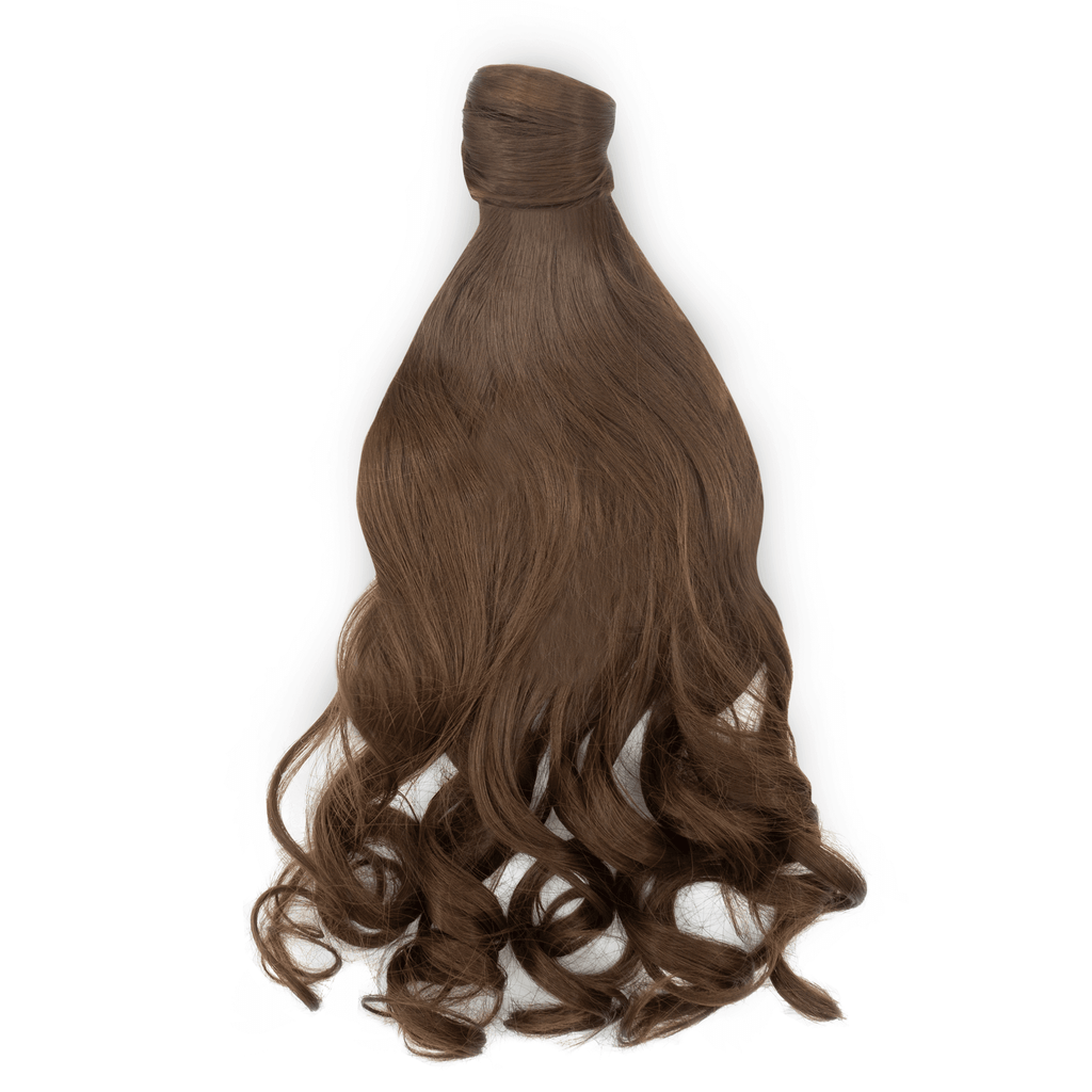 Clip-In Wrap Ponytail Curly - Brown Shade 8 22""