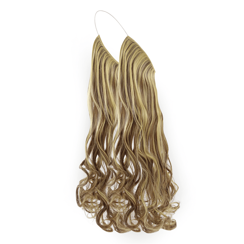 CURLY HALO - BROWN BLONDE SHADE F10/22 24""