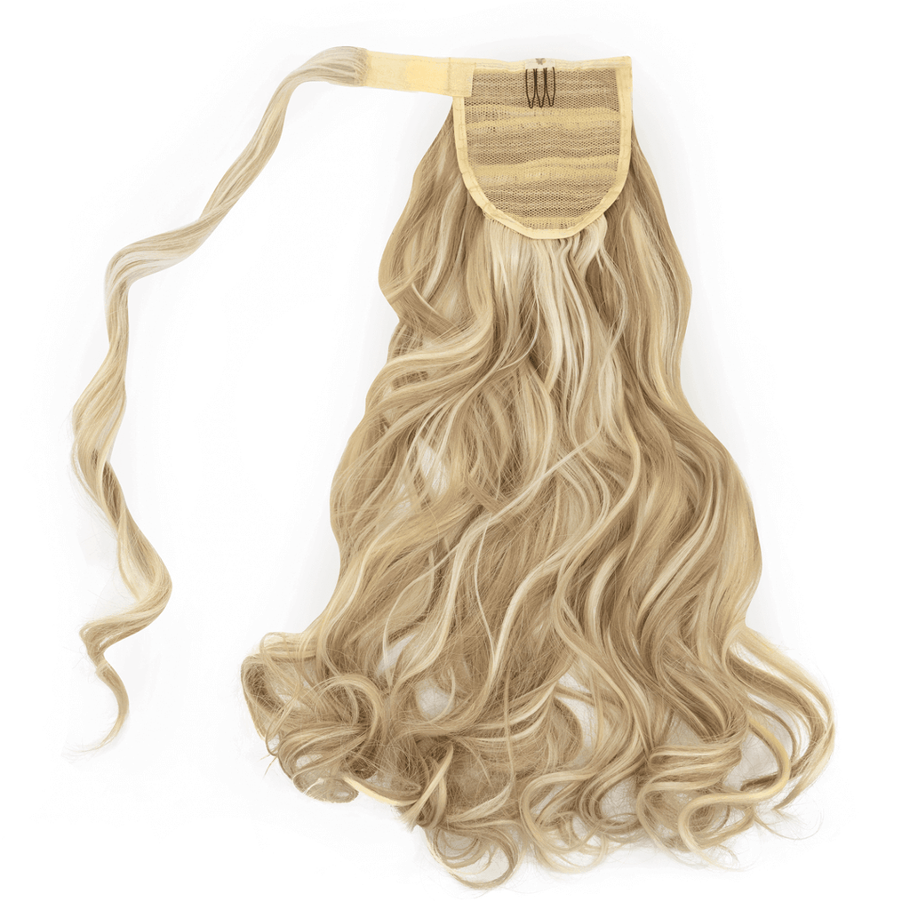 Clip-In Wrap Ponytail Curly - Blonde Shade F16/613 22""