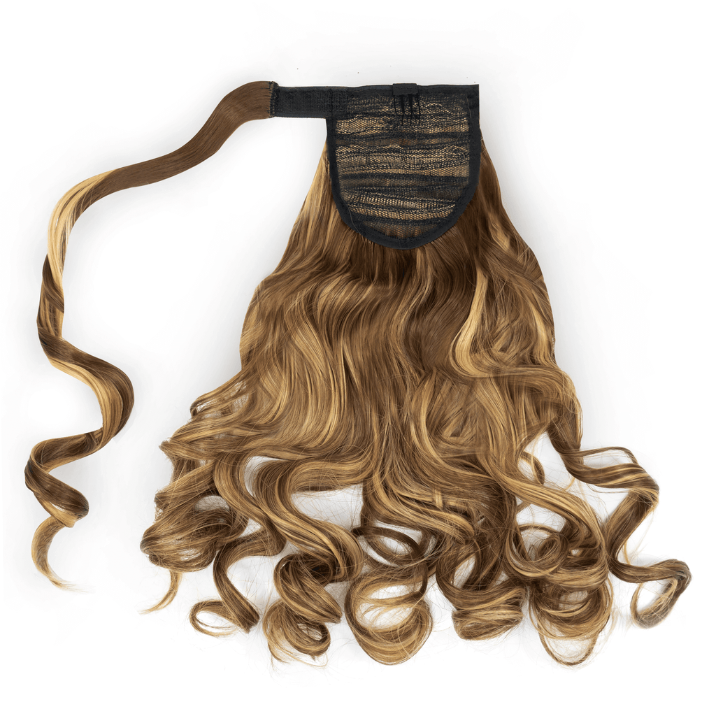 Clip-In Wrap Ponytail Curly - Brown Shade F22/10 22""