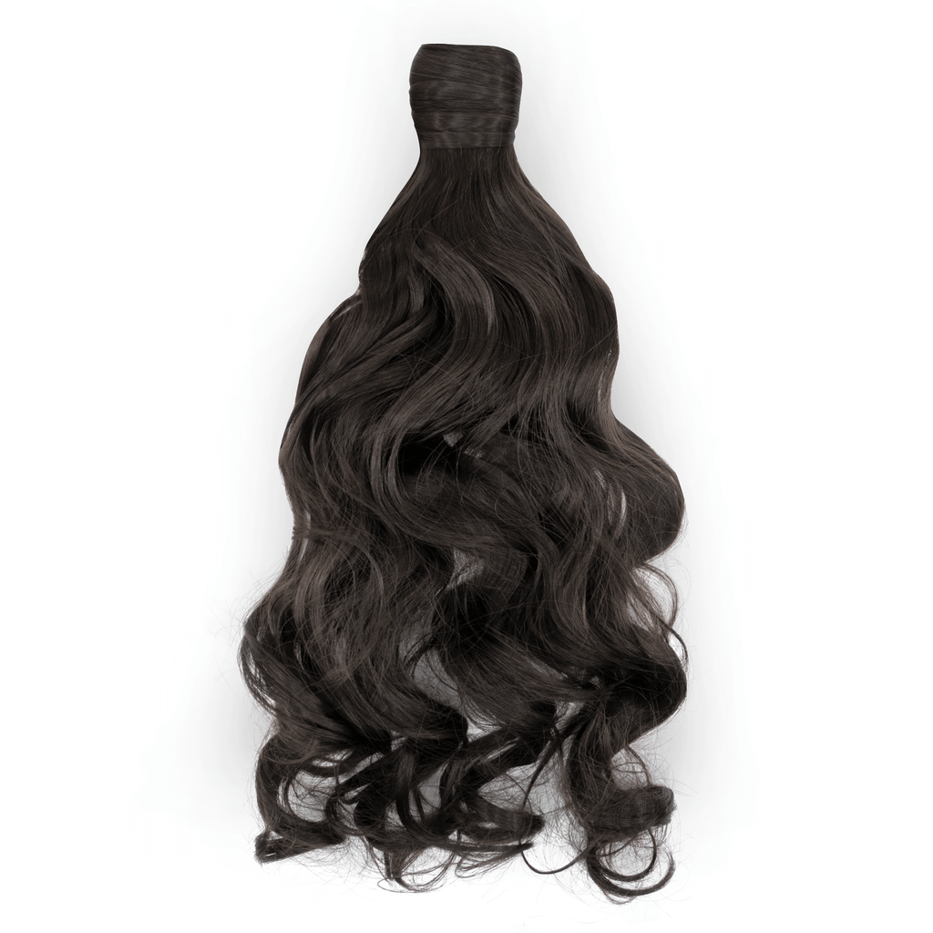 Clip-In Wrap Ponytail Curly - Black Shade J2# 22""